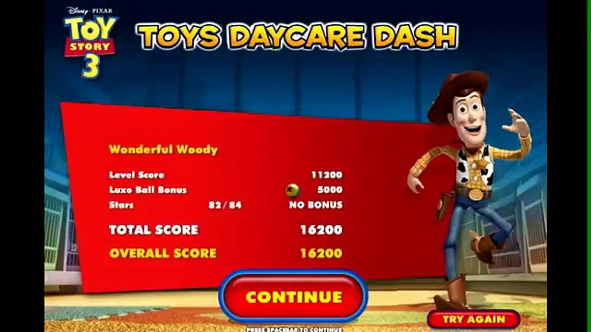 Toy Story 3 HD  - Day Care Dash - Toy Story 3 Cartoon Game