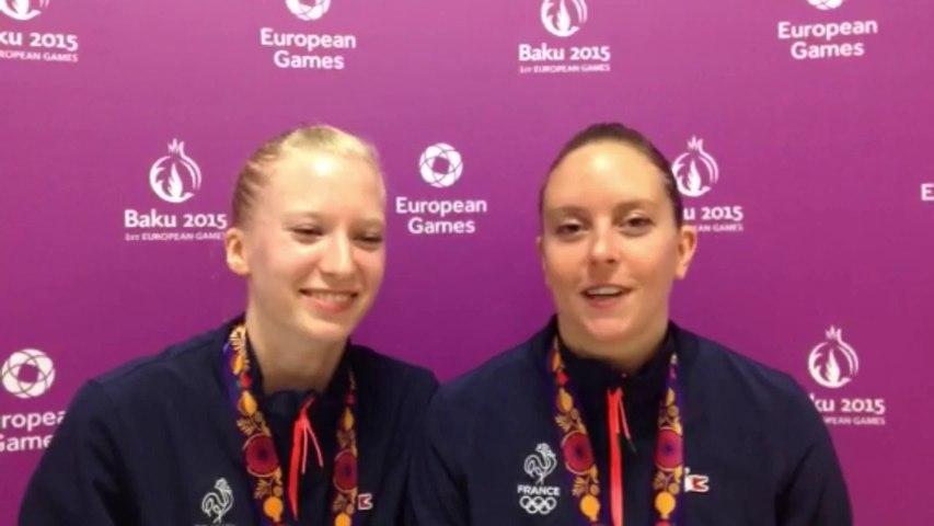Marine Jurbert et Joëlle Vallez - médaille d'argent trampoline synchronisé