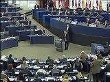 Président de la Tunisie Moncef Marzouki au Parlement Européen