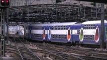 ᴴᴰ SNCF/TRANSILLIEN Trains in Gare de l'Est, trains stations