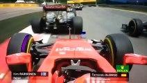 L'accrochage spectaculaire d'Alonso et Raikkonen au GP d'Autriche de Formule 1