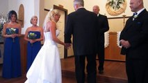 Troy & Lesley Wedding June 19 2015    The Vows   Notice Troy Smiling