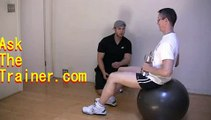 Stability Ball Triceps Extensions Dumbbell Tri French Press