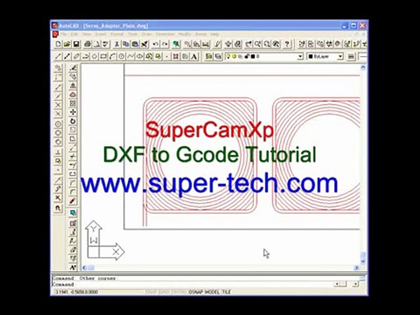 DXF to G-code File SuperCamXp Tutorial
