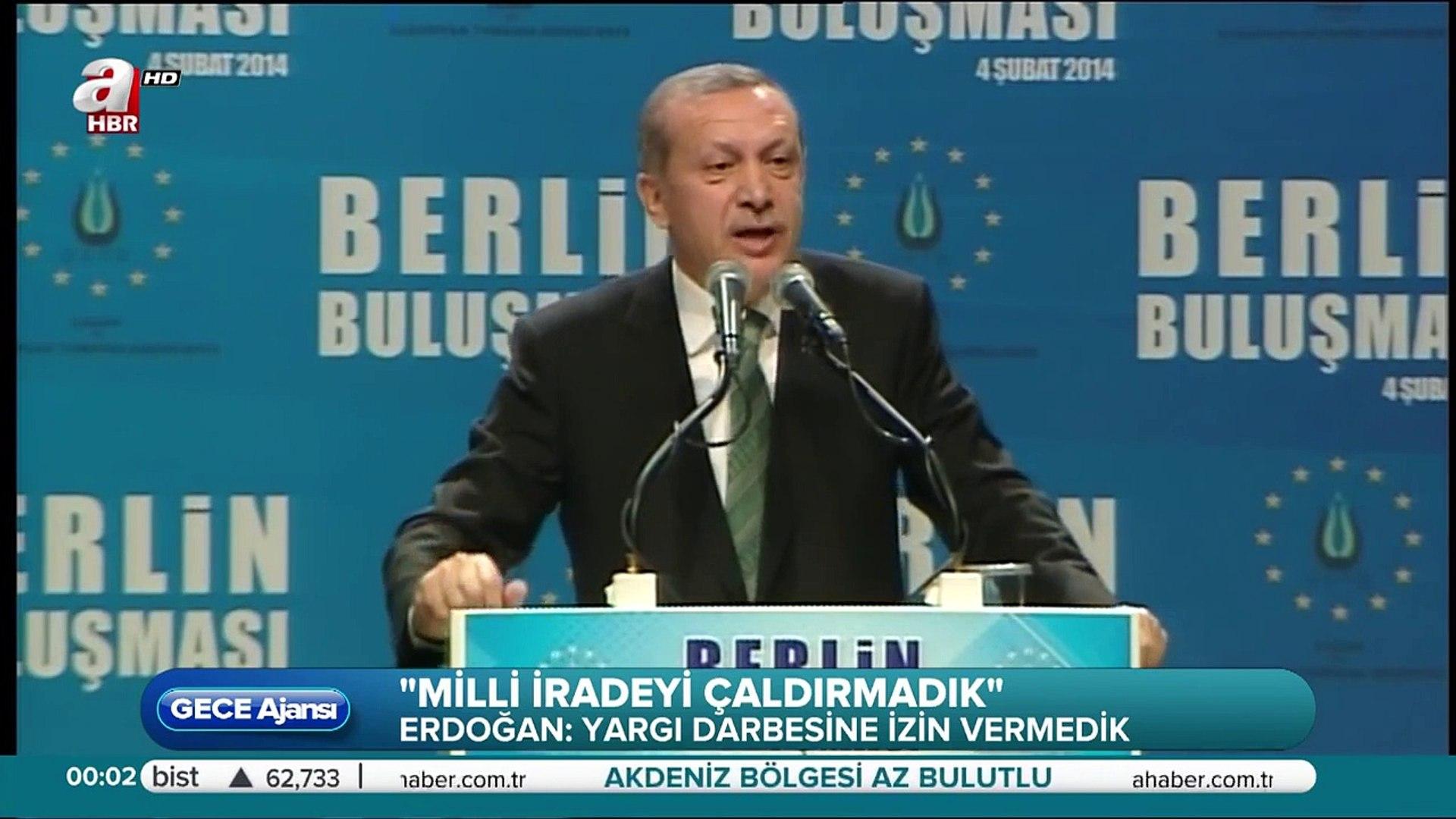 Recep Tayyip Erdoğan: Biz, ancak rükûda eğiliriz.
