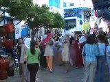 Une mariée à Sidi-Bou-Saïd, Tunisie