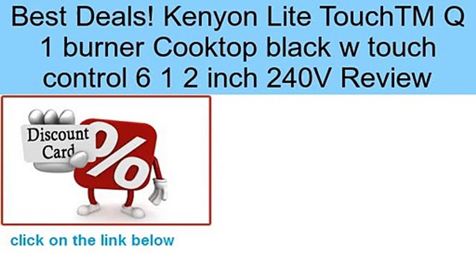 240-volt Black Kenyon B41602 6-1//2-Inch Caribbean 2-Burner Cooktop with Analog Control UL