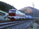 Parný vlak IGE Eisenbahntouristik 29.12.2009
