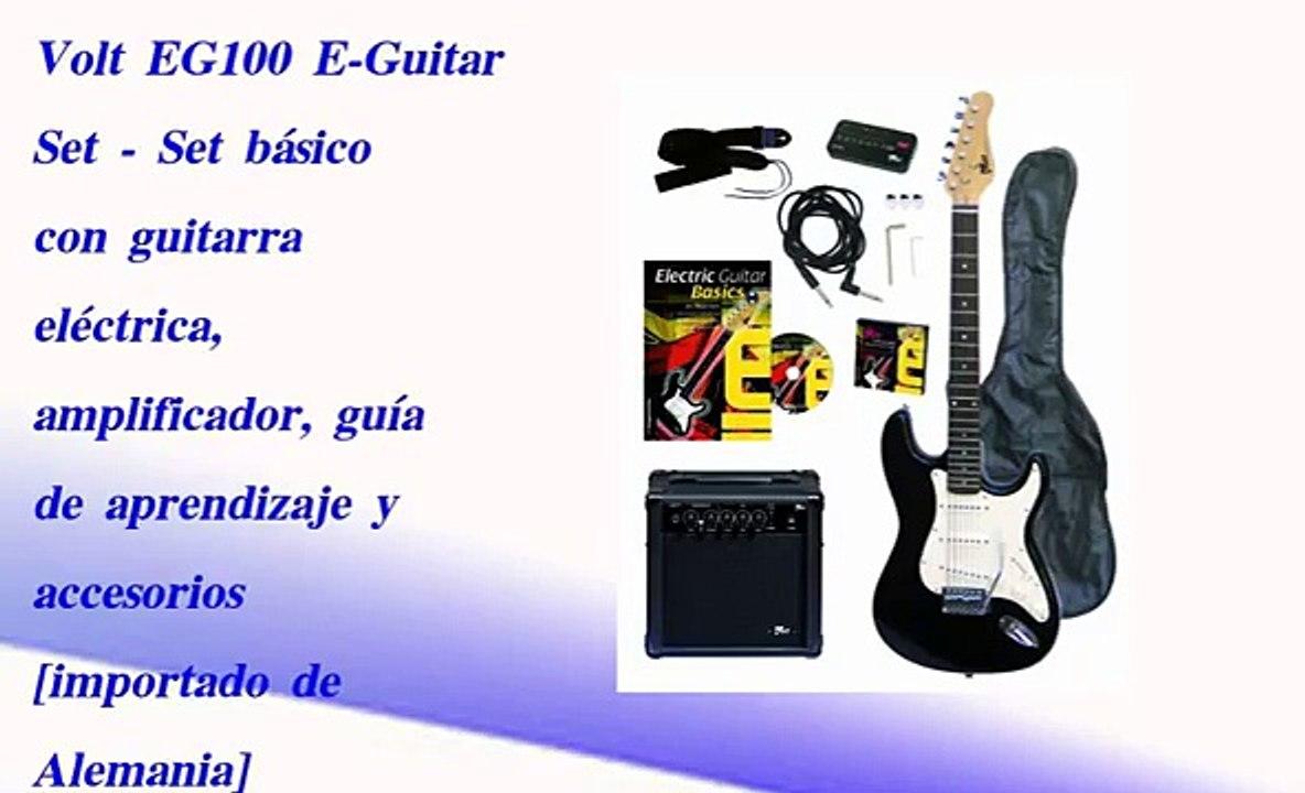 Volt EG100 E-Guitar Set gu/ía de aprendizaje y accesorios amplificador Set b/ásico con guitarra el/éctrica