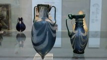 Jug and Amphora glass vessels 4th century AD Roman British Museum London