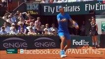 Rafael Nadal vs Novak Djokovic Amazing Point | Roland Garros 2015