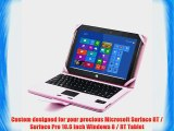 SUPERNIGHT Bluetooth Keyboard Cover Case for Microsoft Surface RT / Surface Pro 10.6 inch Windows