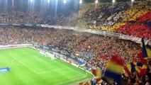 România - Ungaria, imnul României cântat de întregul stadion