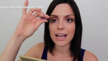 How to apply false eyelashes   fake lashes Makeup 101   makeup for beginners