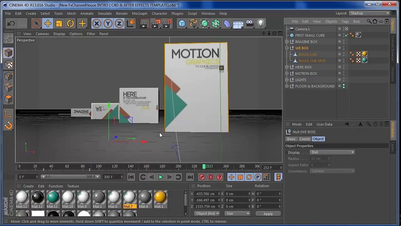 CINEMA 4D INTRO ( C4D & After Effects TEMPLATE )