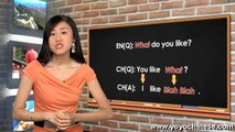 Mandarin Chinese Lesson with Yangyang - Grammar 10 (Content question word)