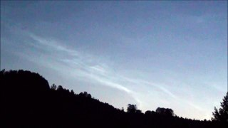 Noctilucent cloud or night clouds time lapse HD