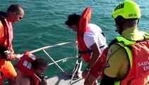 Station SNSM de PALAVAS les Flots Entraînement radeau de survie  juin 2015