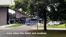 England U21s' Football Team Epic Bus Travel: from the hotel to the stadium...