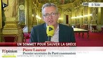 """TextO' : Dette grecque - F.Hollande : """"La France veut un accord global et durable"""""""