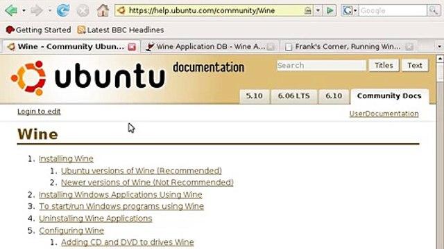 Ubuntu Linux Tutorial Chapt13.Windows Applications in Linux