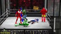 [WWE 2K15] Elimination Chamber Match , THE RETURN : POWER RANGERS vs AVENGERS ! EPIC