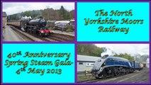 North Yorkshire Moors Railway - 40th Anniversary Spring Steam Gala - 4th May 2013