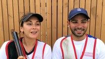 Lucie Anastassiou et Anthony Terras - médaille de bronze skeet par équipe mixte