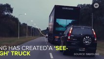 """This Awesome """"See-Through"""" Truck Helps Drivers Stay Safe While Passing"""