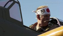 An Operational Japanese Zero Fighter Plane Flies High in Houston, USA