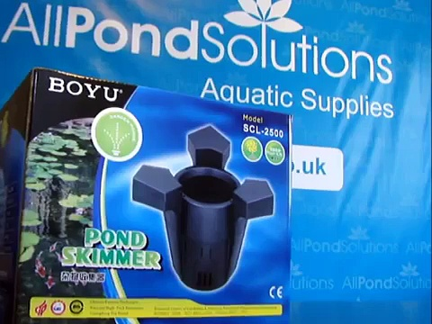 All Pond Solutions guide Boyu SCL-2500 Pond Water Surface Skimmer freshwater koi goldfish fish