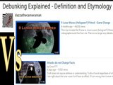 Hilarious moments in the Lunar Wave Debate: Debunking the word Debunking: