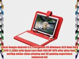 IRULU 7 inch Android Tablet PC 4.2 Jelly Bean OS Dual Core Allwinner A23 CPU Dual Cameras 5