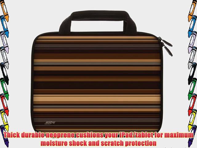 Designer Sleeves 8.9-Inch to 10-Inch Coffee Tablet Sleeve/iPad Sleeve with Handles Brown (10DSH-COF)