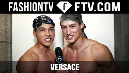Versace Show Backstage Spring/Summer 2016 | Milan Collections: Men | FashionTV