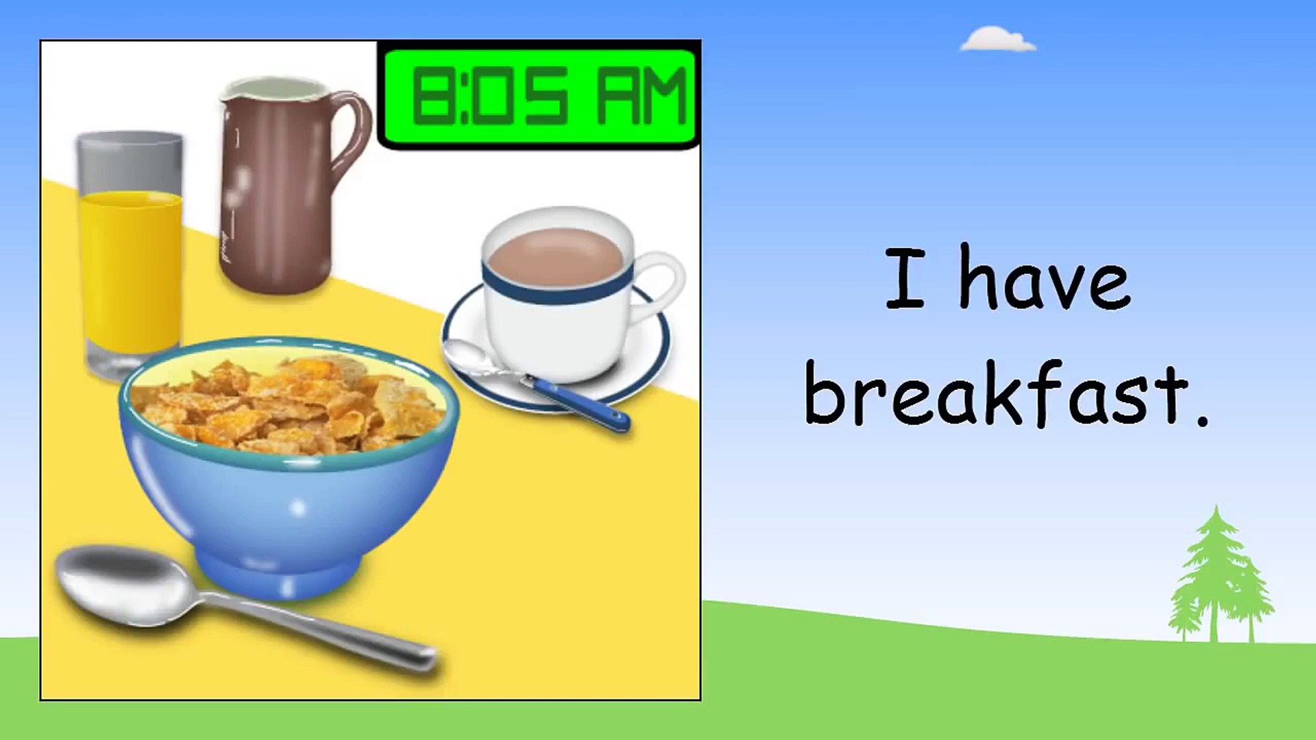 Daily Routine In English ◕ Beginner English Lessons For Children
