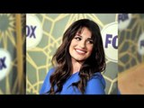 Lea Michele in Peter Som at the Fox All Star Party 2012