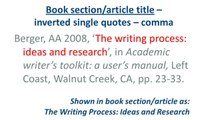 HARVARD style - Referencing a BOOK SECTION-ARTICLE