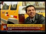 Arequipa  estudiantes convirtieron auto gasolinero en eléctrico.2013 Abril,Arequipa-Perú