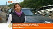Al Jazeera correspondents reporting on Chile earthquake