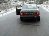 Drifting - Mercedes W124     Wyrazów 2007 XII