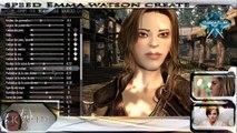 Paramètres de création du personnage Emma Watson dans skyrim FR