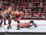 WWE RAW -- Triple H saved by HBK!