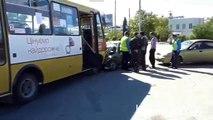 Лобовое столкновение ДТП в Севастополе проспект Героев Сталинграда