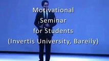 Inspirational Seminar for Students  - Motivational Speaker Him-eesh Madaan