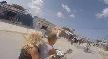 Deux touristes se font percuter de face par un scooter (Punta Cana)
