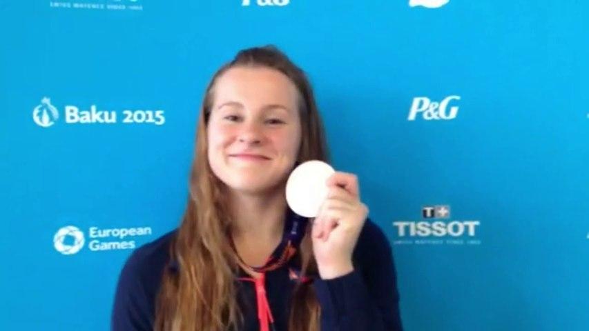 Nolwenn Hervé - médaille de bronze natation 50m brasse