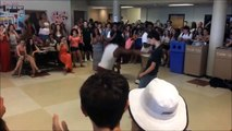 A geek with so crazy dancing skills beats pro dancers during battle