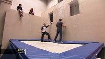 Wall Trampoline: Jeff Glor learns new sport - WEB EXTRA