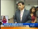 Abogado de jóvenes detenidos busca su libertad por Hábeas Corpus